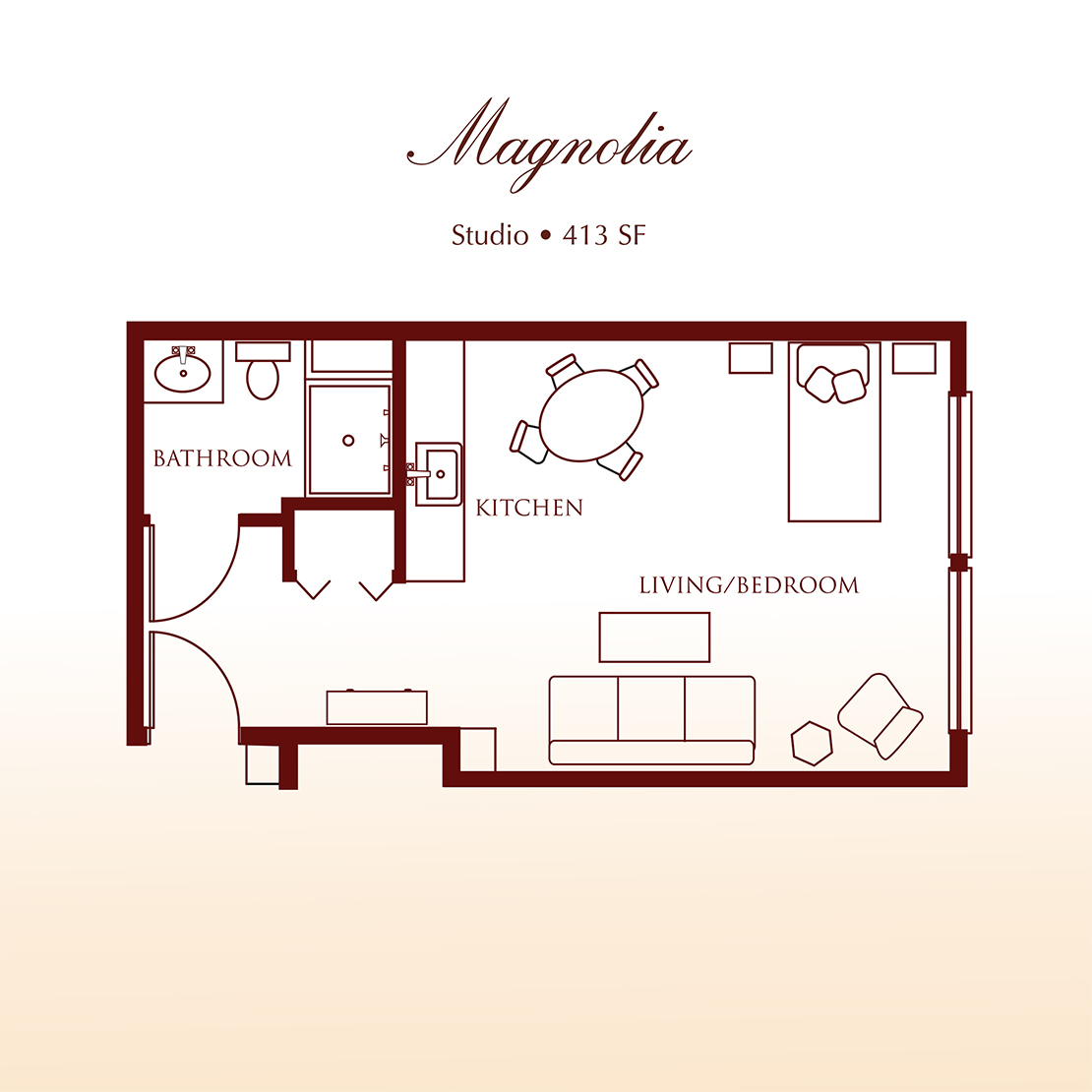 Williamsburg Two Bedroom Suite Floor Plan